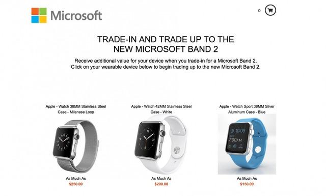 Microsoft Band Apple Watch