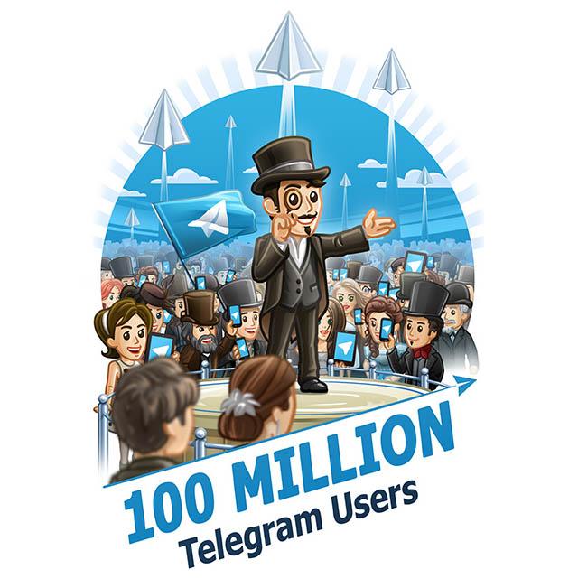 Telegram 100milioni