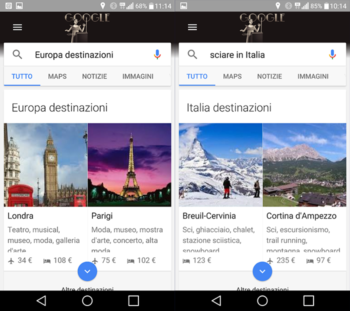 Google Destinations app
