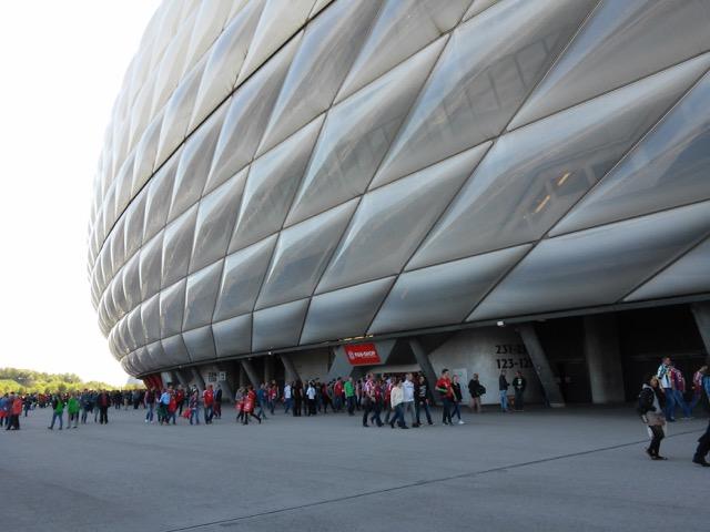 L'esterno dell'Allianz Arena.