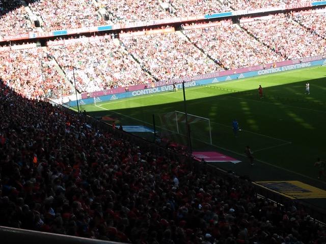 La partita vista dal settore ospiti.