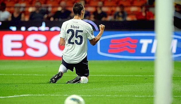 La prima esultanza di Miroslav Klose in Serie A.