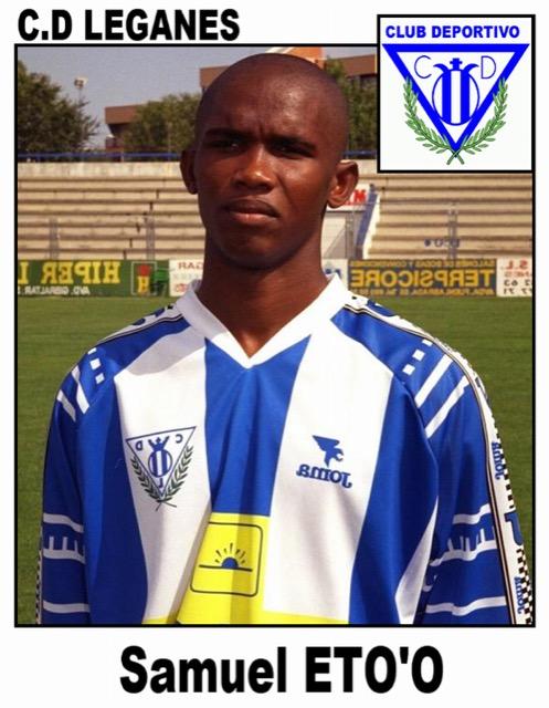 Samuel Eto'o con la maglia del Leganés. Il camerunese giocò in prestito nella stagione