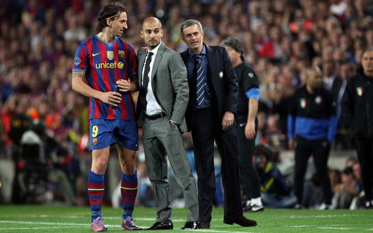 I rapporti fra Guardiola e Ibra sono tesissimi, così come con Mourinho.