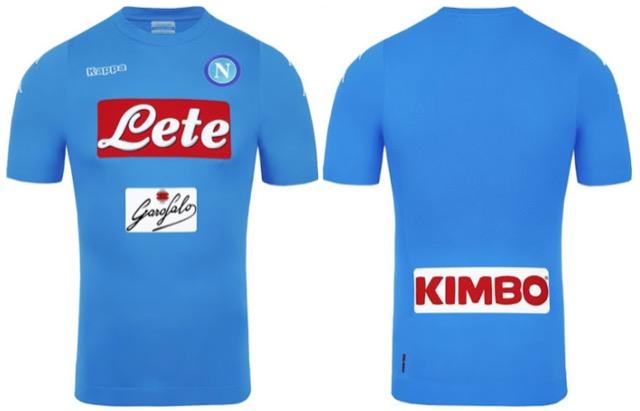Napoli fronte retro nuova maglia