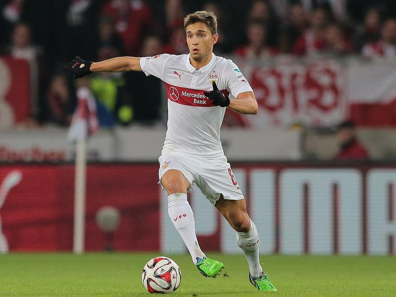 Leitner in campo con lo Stoccarda.