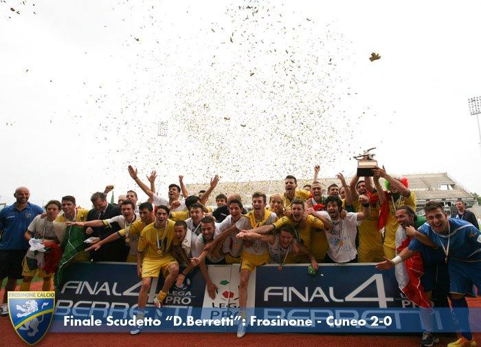 La formazione Berretti guidata da Stellone campione d'Italia nel 2012.