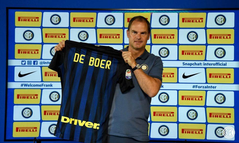 Frank de Boer era stato presentato il 9 agosto.