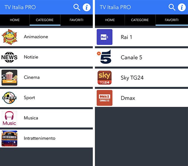 TV italia Pro iOS