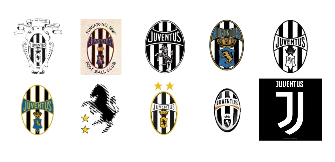 evoluzione logo Juventus
