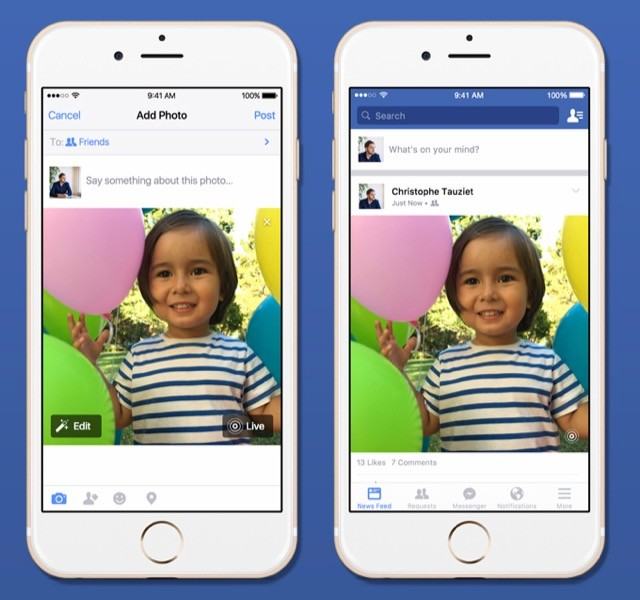 Live Photos Facebook